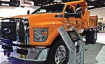 Vocational trucks and the new technologies that are making them leaner — if not smaller — took center stage in March at The Work Truck Show 2014 in Indianapolis, Ind. (Photo by Ashley Adamaitis)