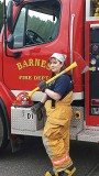 Deanna Glinski is a firefighter with the Barnes Volunteer Fire Department in Wisconsin. Last year she had her own fire to fight when her newly purchased home burned to the ground. (Photo provided)