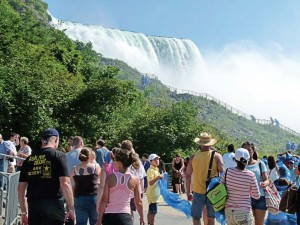 Niagara Falls receives tourists from all over the U.S. and the world to see its falls. Within the past 10 years the city has been focusing in on the tourism industry. (Photo provided)