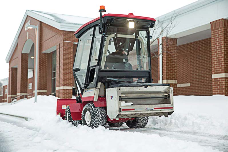 Providing protection from the elements as employees clear sidewalks of snow and ice defrays the burnout and fatigue that can lead to high personnel turnover. (Photo provided)