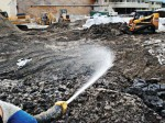 Microbes can be sprayed over the surface of contaminated soil or water for effective treatment, as long as they come into contact with the contaminants. (Photo provided by CL Solutions LLC)