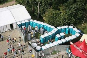 Portable sanitation units are best used at large events like concerts. (Photo provided)