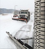 An anti-icing truck prepares the roads prior to an impending snowfall in Bloomington, Minn. The city has its own brine-blending station and uses both regular salt and treated salt. Most of the city's snow and ice control operators are Minnesota Pollution Control Agency certified road salt applicators. (Photo provided by the city of Bloomington, Minn.)