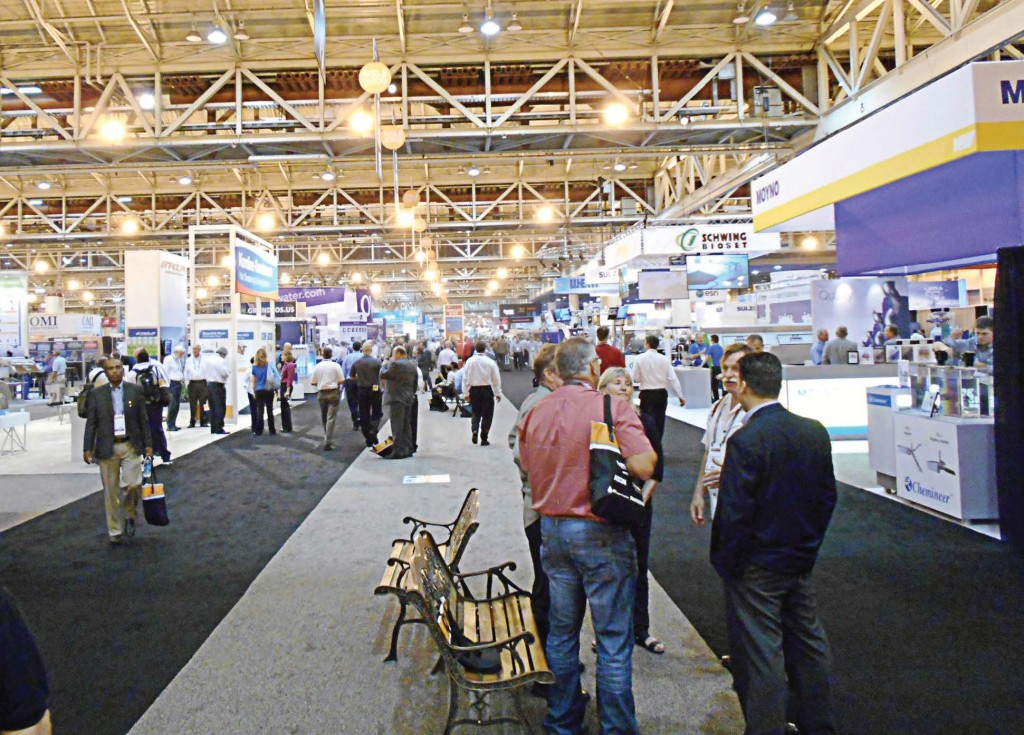WEFTEC exposition hall runway at the 2014 conference