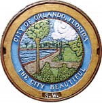 """""""The City Beautiful"""" is the first manhole cover relief done in color by artist Bobbi Mastrangelo and was exhibited in the Orlando Museum of Art in October. (Photo provided by Mastrangelo, from her Grate American Art portfolio)"""