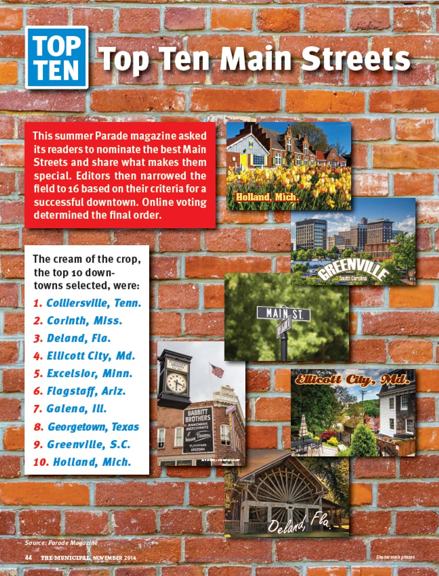 This summer Parade magazine asked its readers to nominate the best Main Streets and share what makes them special