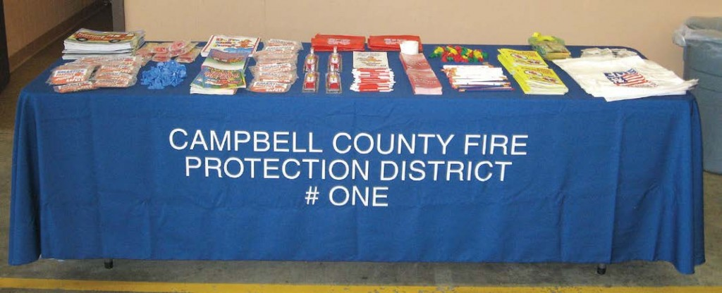 A display at a school in Kentucky shows one way fire departments can reach the younger generation with information about fire safety and prevention.