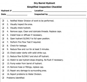 Dry-barrel inspection checklist.