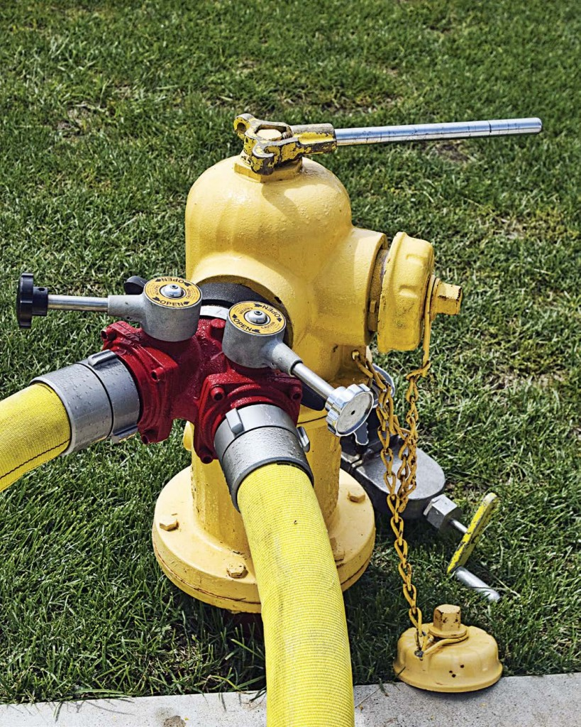 A regular hydrant inspection and maintenance program should include lubricating the threads, replacing caps, checking for leaky gaskets and conducting a flow test to determine both the amount of water available for fighting fires and the general condition of the distribution system.