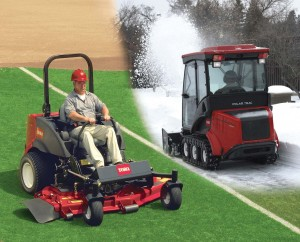 Groundsmaster 7200 series zero-turn mower converts to the Polar Trac System in just four hours.