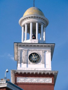 clocktower in maine