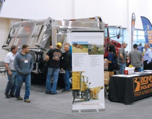 The exposition floor of the apwa snow conference gave drivers and managers the chance to check out and even drive some of the new equipment designed and developed over the past year. (Photo by Rees Woodcock)