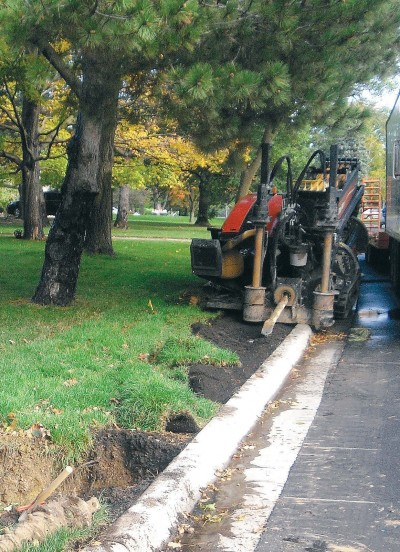 A Mirror Lakes directional drilling project from 2009 in Edina. (Photo provided)