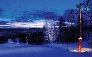 Åre Ski Resort in Sweden made night skiing an enchanting experience by installing new lighting on its cross country paths.