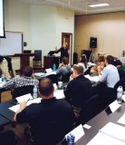 Curriculum designer and trainer Anna Laszlo, of Fair and Impartial Policing, conducts a training in Tampa, Fla.