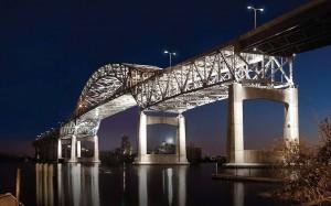 The Blatnik Bridge between Wisconsin and Minnesota