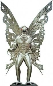 The Mothman creature is described as man-like, with a seven- to 10-foot wingspan and glowing red eyes.