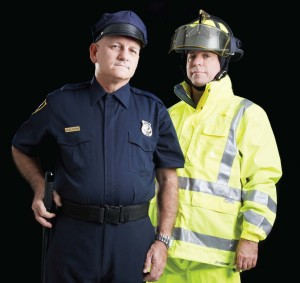 police and firefighter