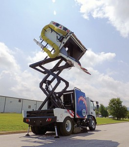The A8 Twister Hopper can be lift ed to 12 feet. (Photo provided)