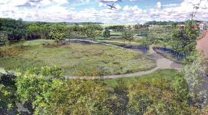Pictured is an artistic rendering of what Chattanooga's infiltration basin will look like. The property is owned by the Chattanooga Metropolitan Airport. (Photo provided)