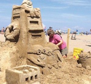 A master sand sculpting competition, held during Mentor's BeachFest at Headlands Beach State Park, highlights the artisan style of this lakefront event. Beach Fest showcases the work of celebrated artists and gives children and families a chance to sculpt some sandy fun. (Photo provided by city of Mentor)