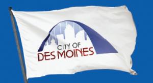 Des Moines Iowa Flag