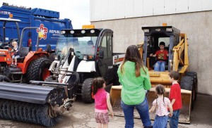 Everyone enjoys being able to get close to the equipment at a village of Lake in the Hills, Ill., open house. (Photo provided)