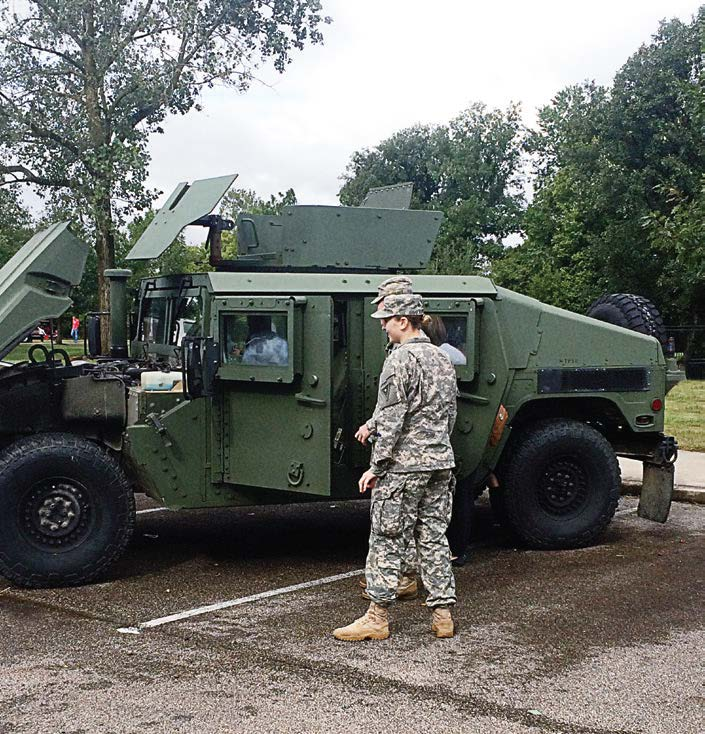 A National Guard Humvee and a DeLorean were new additions to the 2015 Touch a Truck event in Dublin, Ohio, that included public works and public safety vehicles.