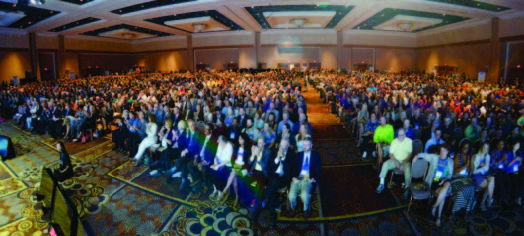 Opening general session of the 50th anniversary National Recreation and Park Association Conference in Las Vegas. (Photo courtesy Caught in the Moment Photography)