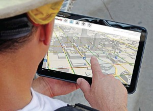 Firefighters can view real-time situational awareness