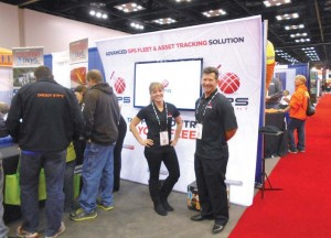GPS Insight employees welcomed guests to the WWETT exposition floor at last year's conference (Photo by Chris Smith)