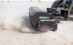The Hydraulic Rotary Broom from HLA Attachments features a unique forward and lateral float