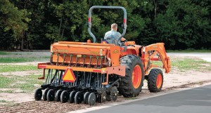 Like all of Land Pride's compact drills, a native grass box or small seeds box can be added to increase seeding options