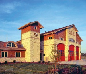A NASCAR-themed fire station in Joliet, Ill., was facilitated by a donation of land from the Chicagoland Speedway.