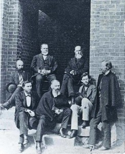 Davidson, N.C., was settled in 1837 when Davidson College — now Davidson University — located there. Pictured are a few members of Davidson's faculty in 1873, six years before the town's first municipal council was organized.