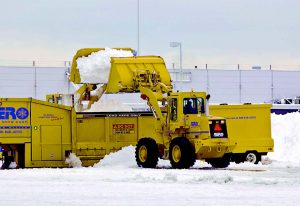 A viable alternative to the relocation of particularly large quantities of snow, or snow from a large property, is onsite melting. This option saves gas, wear and tear on local roads and the relocator's equipment, plus time. (Steve Collender / Shutterstock.com)