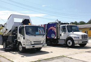 The A4 Storm is able to pick up heavy materials like its larger Schwarze municipal sweeper counterparts. (Photo provided)