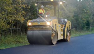 WinterPave installation involves the same process as non-treated asphalt.