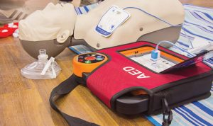 AEDs can range in price from $1,500- $2,000 each, and many departments have turned to grants and grassroot fundraising to add them to squad cars. (Shutterstock.com)