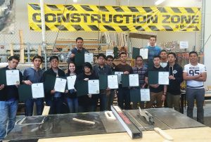 Certificate of Achievements are proudly displayed at East Career & Technical Academy in Las Vegas, Nev. (Photo provided)