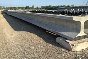 The bulb T-beams, along with the carbon fi ber reinforcement, are expected to reduce concrete cracking, deterioration and corrosion that is typical in traditional steel reinforced bridges. (Photo provided)