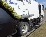 Schwarze's new A4 Storm regenerative air sweeper features a short wheelbase, high maneuverability and a full-size sweeper performance, making it versatile no matter the season. (Photo provided)