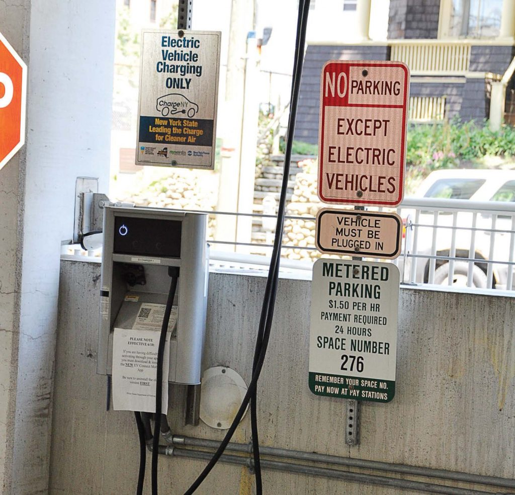 White Plains, N.Y., has 20 publicly accessible electric charging stations, which have seen an increase in use and interest. (Photo provided by city of White Plains)
