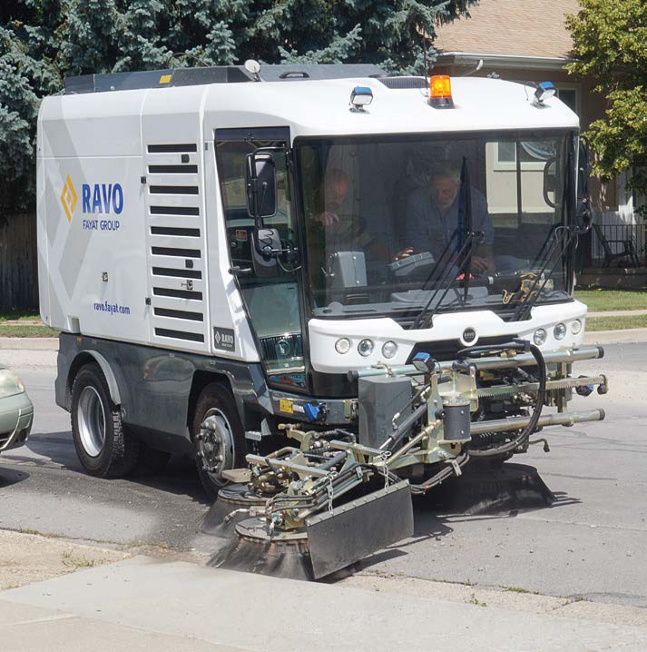 The RAVO 5 iSeries is extremely maneuverable and has a turning circle of 16 feet curb to curb. Its unique pulled brush system uses constant brush pressure that extends the brush life by 50 percent and is maintenance friendly. (Photo provided)