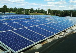Charlottesville High School was one of the first solar power projects that Charlottesville invested in. (Photo provided)