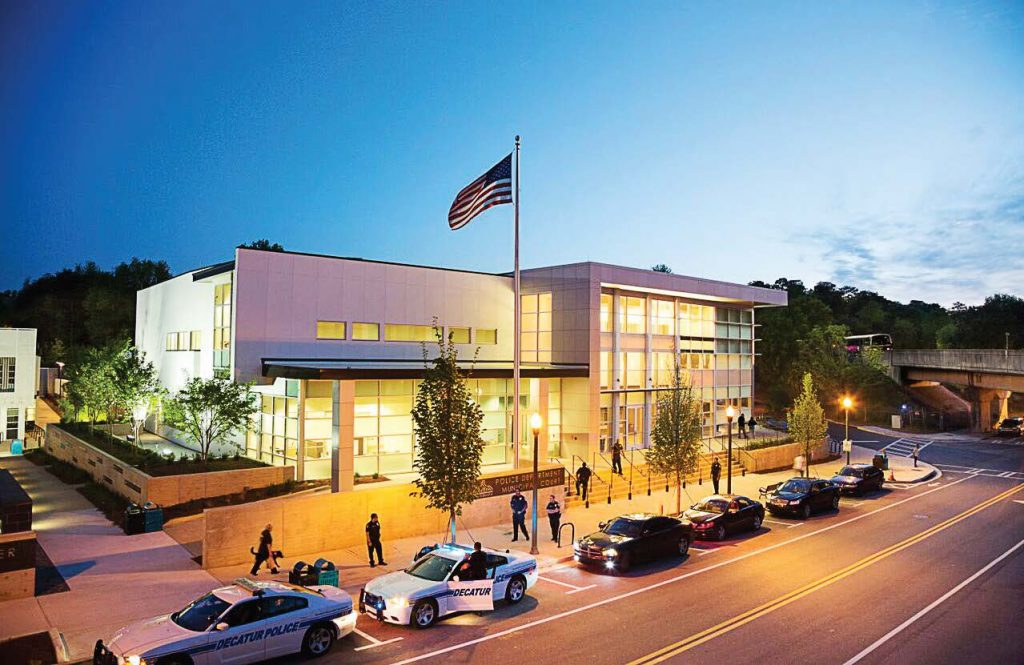 Decatur adopted a policy where every city-owned building over 5,000 square feet has to be certified as a Leader in Energy and Environmental Design by the U.S. Green Building Council. Pictured is Decatur's Beacon Municipal Center (Photo provided)