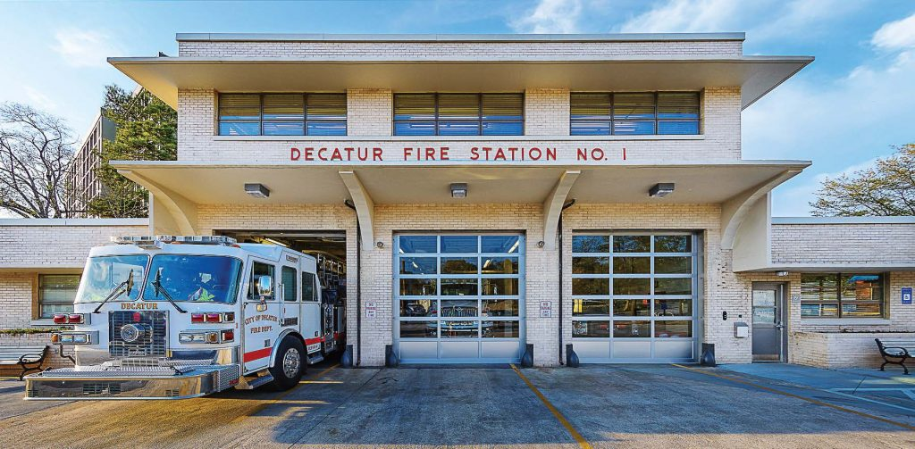 Decatur Fire Station No. 1 received a complete renovation and expansion — a project that achieved LEED Platinum certification. (Photo provided)
