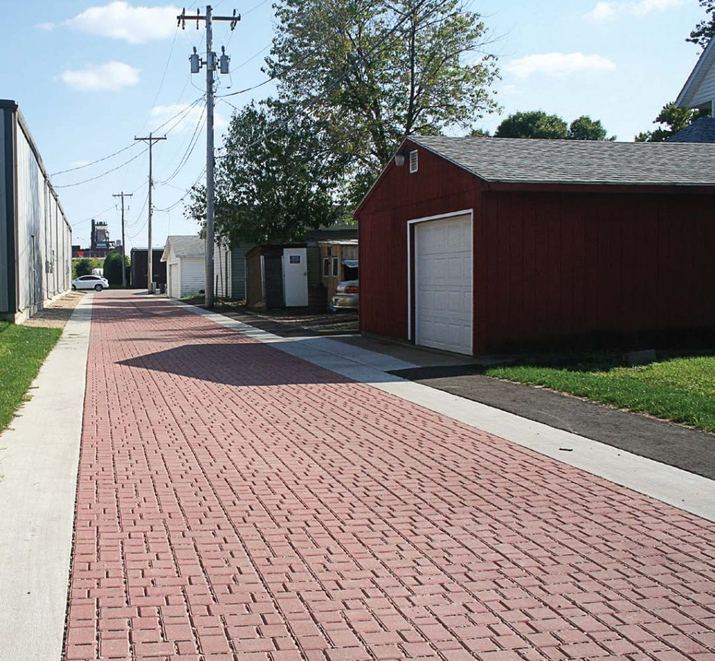 Using a program involving Iowa's State Revolving Fund loan, the city of Dubuque has come up with an innovative way to finance the reconstruction of approximately 80 green alleys so far. (Photo provided by the city of Dubuque)