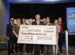 Huntington, W.Va., was announced as the grand prize winner on April 19 in Denver; its community leadership team was brought onto the stage to receive the ceremonial check for $3 million. (Photo provided)