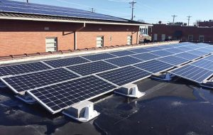 The town hall in Saluda, S.C., constantly sees citizens coming in and out, which brings more attention to the solar panels on top. (Photo provided)